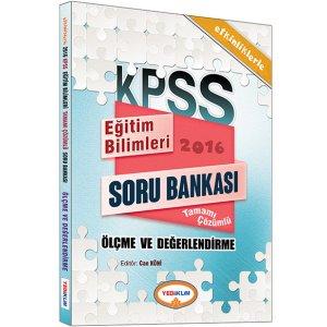 2016 KPSS Eğitim Bilimleri Ölçme ve Değerlendirme Tamamı Çözümlü Soru Bankası Yediiklim Yayınları