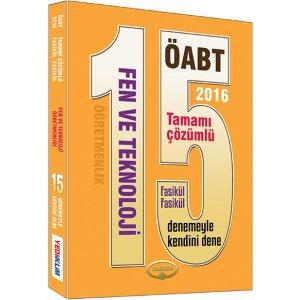 2016 ÖABT Fen ve Teknoloji Öğretmenliği Tamamı Çözümlü Fasikül Fasikül 15 Deneme Sınavı Yediiklim Yayınları