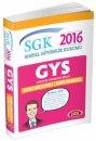 2016 GYS SGK Sosyal G�venlik Kurumu Konu Anlat�ml� Soru Bankas� Data Yay�nlar�