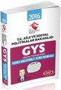 2016 GYS Aile ve Sosyal Politikalar Bakanlığı Konu Anlatımı Soru Bankası Data Yayınları