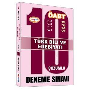 2016 ÖABT Türk Dili ve Edebiyatı Öğretmenliği Çözümlü 10 Deneme Sınavı Yediiklim Yayınları