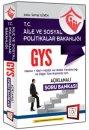 2016 GYS Aile ve Sosyal Politikalar Bakanlığı Açıklamalı Soru Bankası 657 Yayınları