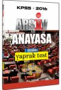 2016 KPSS Ar�iv Anayasa �ek Koparl� Yaprak Test Filozof Yay�nc�l�k