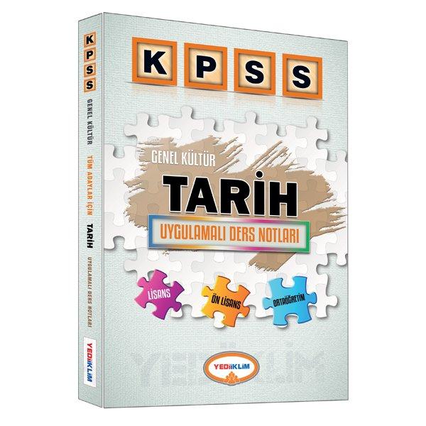 2016 KPSS Tarih Uygulamalı Ders Notları Yediiklim Yayınları