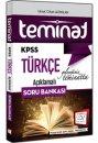 2016 KPSS Teminat Türkçe Açıklamalı Soru Bankası 657 Yayınları
