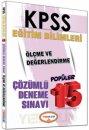2016 KPSS Eğitim Bilimleri Ölçme ve Değerlendirme Çözümlü 15 Deneme Sınavı Yediiklim Yayınları