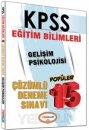 2016 KPSS Eğitim Bilimleri Gelişim Psikolojisi Çözümlü 15 Deneme Sınavı Yediiklim Yayınları