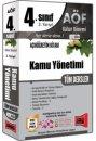 4.Sınıf 8.Yarıyıl Kamu Yönetimi Tüm Dersler Kod:8004 Yargı Yayınları