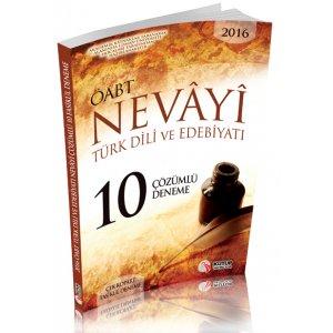 2016 ÖABT Nevayi Türk Dili ve Edebiyatı Öğretmenliği Çözümlü 10 Deneme Kutup Yayınları