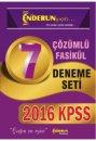 2016 KPSS Genel Yetenek Genel K�lt�r ��z�ml� 7 Deneme Seti Modern Enderun Yay�nlar�