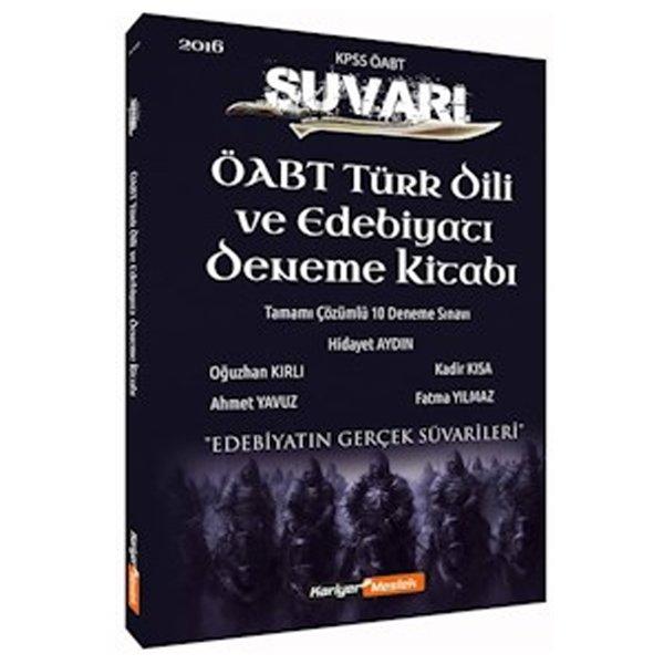 2016 ÖABT Türk Dili ve Edebiyatı Öğretmenliği Süvari Tamamı Çözümlü 10 Deneme Kariyer Meslek Yayınları