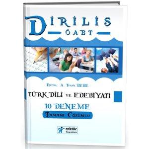2016 Diriliş ÖABT Türk Dili ve Edebiyatı Tamamı Çözümlü 10 Deneme Rektör Yayınevi