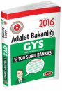 2016 GYS Adalet Bakanlığı Soru Bankası Data Yayınları
