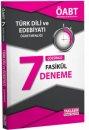 2016 ÖABT Türk Dili ve Edebiyatı Öğretmenliği Çözümlü 7 Deneme Yaklaşım Yayınları