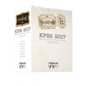 2017 KPSS Genel Kültür Genel Yetenek Konu Anlatımlı Modüler Set Yeşilçam Yediiklim Yayınları