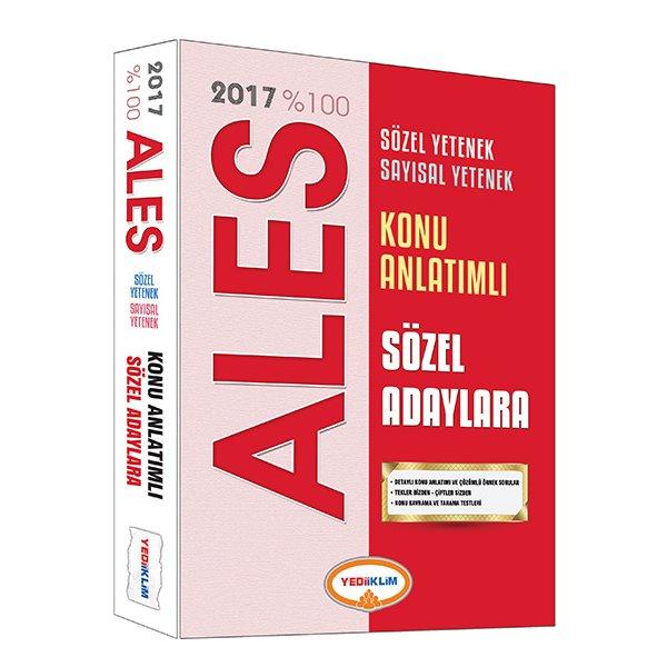 2017 ALES Sözel Adaylar için Konu Anlatımlı Yediiklim Yayınları