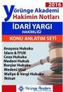 2016 İdari Yargı Hakimin Notları Seti Yörünge Akademi Yayınları