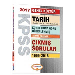 2017 KPSS Genel Kültür Tarih Konularına Göre Düzenlenmiş Tamamı Çözümlü 1999-2016 Çıkmış Sorular Yediiklim Yayınları
