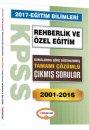 2017 KPSS Eğitim Bilimleri Rehberlik ve Özel Eğitim Konularına Göre Düzenlenmiş Tamamı Çözümlü 2001-2016 Çıkmış Sorular Yedii