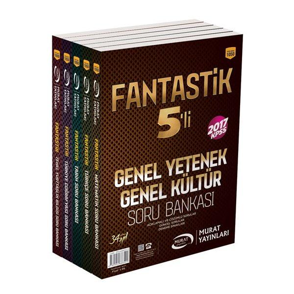 2017 KPSS Genel Yetenek Genel Kültür Fantastik 5 li Modüler Soru Bankası Seti Murat Yayınları