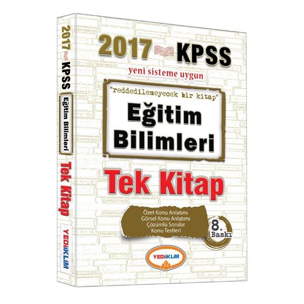 2017 KPSS Eğitim Bilimleri Konu Anlatımlı Tek Kitap Yediiklim Yayınları
