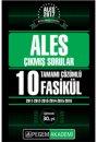2017 ALES Tamamı Çözümlü 10 Fasikül Çıkmış Sorular Pegem Yayınları