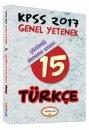2017 KPSS Türkçe Çözümlü 15 Deneme Sınavı Yediiklim Yayınları