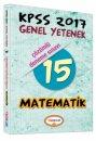 2017 KPSS Matematik Çözümlü 15 Deneme Sınavı Yediiklim Yayınları