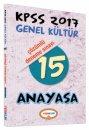 2017 KPSS Anayasa Çözümlü 15 Deneme Sınavı Yediiklim Yayınları