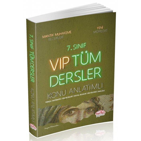 7. Sınıf VIP Tüm Dersler Konu Anlatımlı Editör Yayınevi