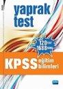 KPSS Eğitim Bilimleri Yaprak Test Çek Kopar 2011