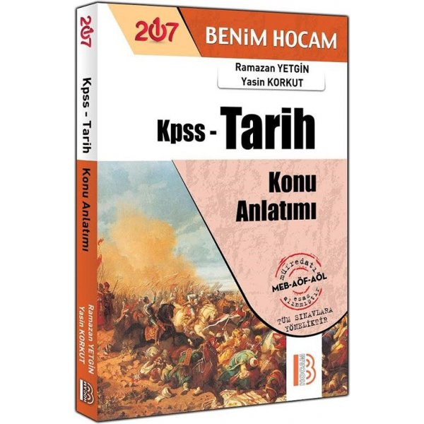 2017 KPSS Tarih Konu Anlatımlı Kitap Ramazan Yetgin Benim Hocam Yayınları