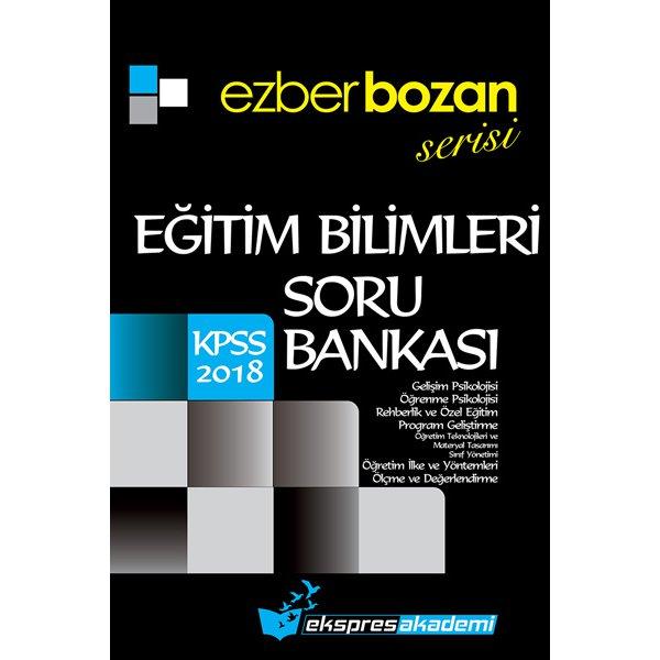 2018 KPSS Eğitim Bilimleri Ezberbozan Serisi Soru Bankası Pegem Ekspres Akademi