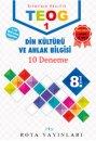 8. Sınıf TEOG 1 Din Kültürü ve Ahlak Bilgisi 10 Deneme RTY Rota Yayınları
