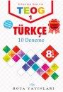8. Sınıf TEOG 1 Türkçe 10 Deneme RTY Rota Yayınları