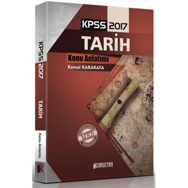 2017 KPSS Tarih Kurultay Konu Anlatımlı Kitap Kemal Karakaya Kurultay Yayınları