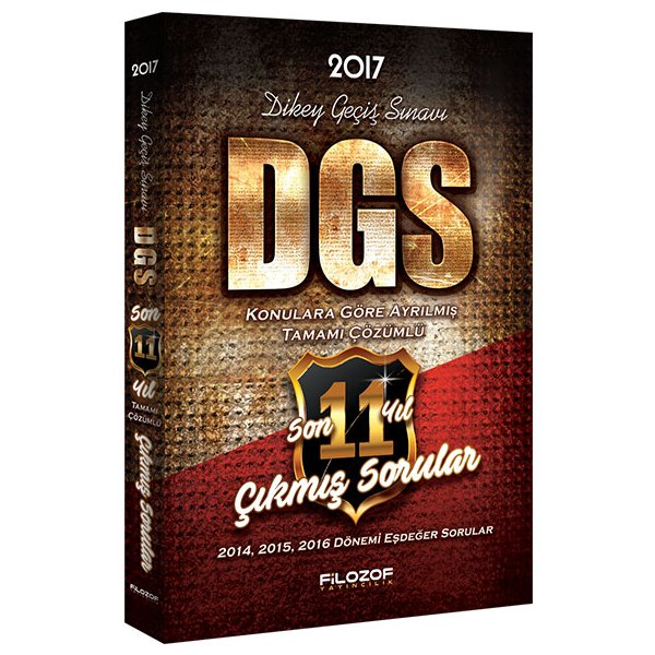 2017 DGS Konulara Göre Ayrılmış Son 11 Yıl Tamamı Çözümlü Çıkmış Sorular Filozof Yayıncılık
