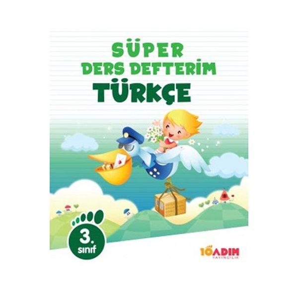 3.Sınıf Türkçe Süper Ders Defterim 10 Adım Yayıncılık