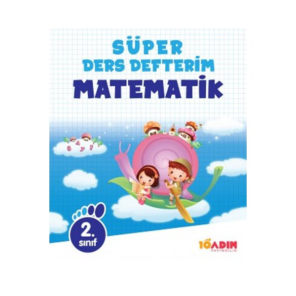 2.Sınıf Matematik Süper Ders Defterim 10 Adım Yayıncılık
