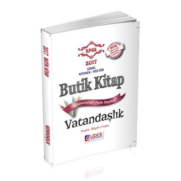 2017 KPSS Vatandaşlık Butik Kitap Lider Yayınları