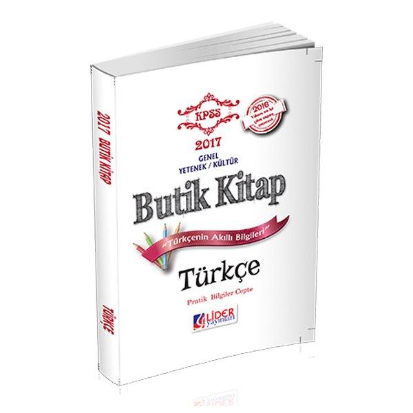 2017 KPSS Türkçe Butik Kitap Lider Yayınları