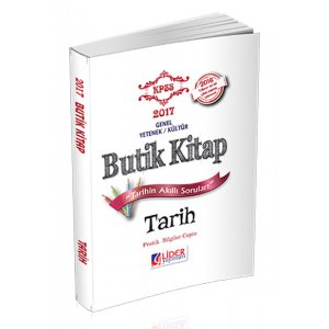 2017 KPSS Tarih Butik Kitap Lider Yay�nlar�