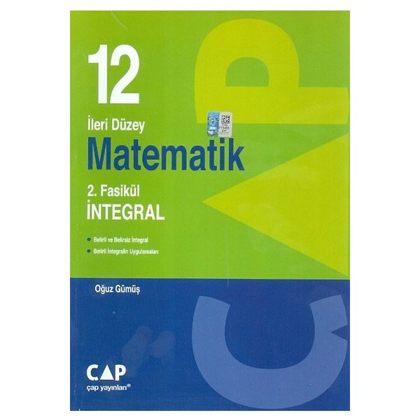 12. Sınıf İleri Düzey Matematik 2.Fasikül İntegral Çap Yayınları