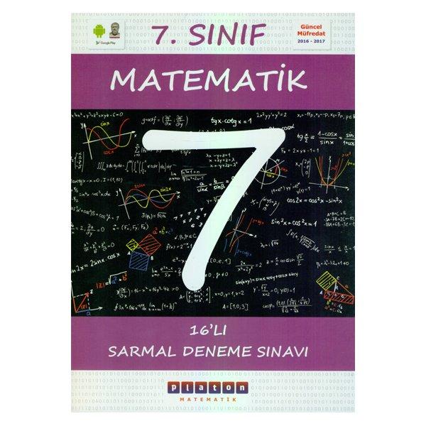 7.Sınıf Matematik 16 Sarmal Deneme Sınavı Platon Matematik