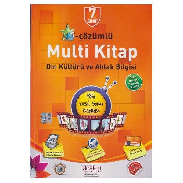 7.Sınıf E-Çözümlü Multi Kitap Din Kültürü ve Ahlak Bilgisi Yeni Nesil Soru Bankası Anafen Yayınları