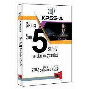 2017 KPSS A Grubu ��km�� Son 5 S�nav Sorular� ve ��z�mleri Yarg� Yay�nlar�