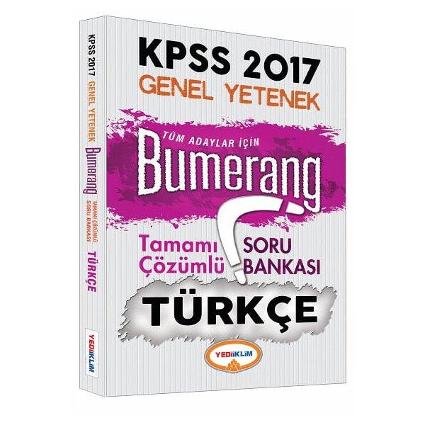2017 KPSS Bumerang Türkçe Tamamı Çözümlü Soru Bankası Yediiklim Yayınları