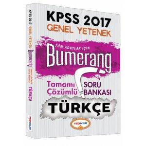 2017 KPSS Bumerang T�rk�e Tamam� ��z�ml� Soru Bankas� Yediiklim Yay�nlar�