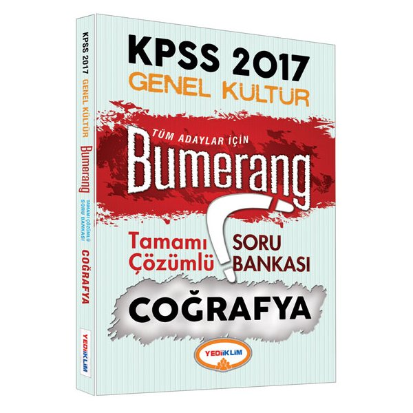 2017 KPSS Bumerang Coğrafya Tamamı Çözümlü Soru Bankası Yediiklim Yayınları