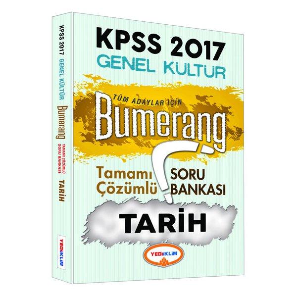 2017 KPSS Bumerang Tarih Tamamı Çözümlü Soru Bankası Yediiklim Yayınları